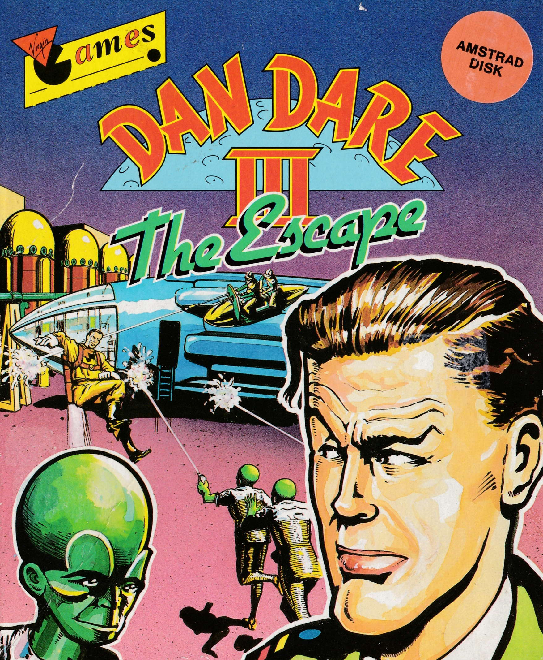 cover of the Amstrad CPC game Dan Dare III - The Escape  by GameBase CPC