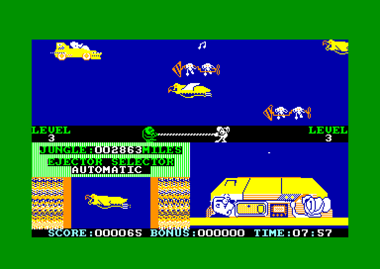 screenshot of the Amstrad CPC game Danger mouse in double trouble by GameBase CPC