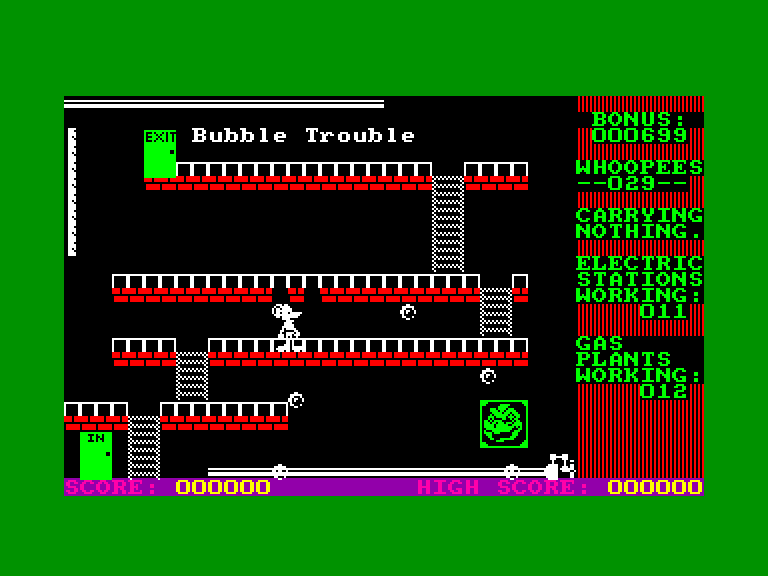 screenshot of the Amstrad CPC game Danger mouse in making whoopee by GameBase CPC