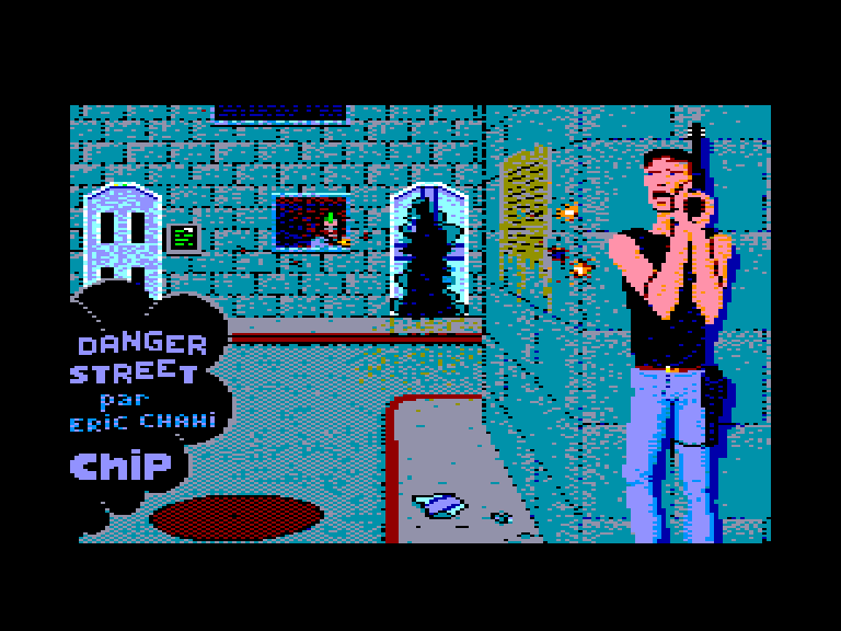 screenshot of the Amstrad CPC game Danger street by GameBase CPC