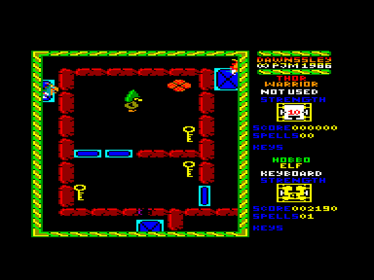 screenshot of the Amstrad CPC game Dawnssley by GameBase CPC