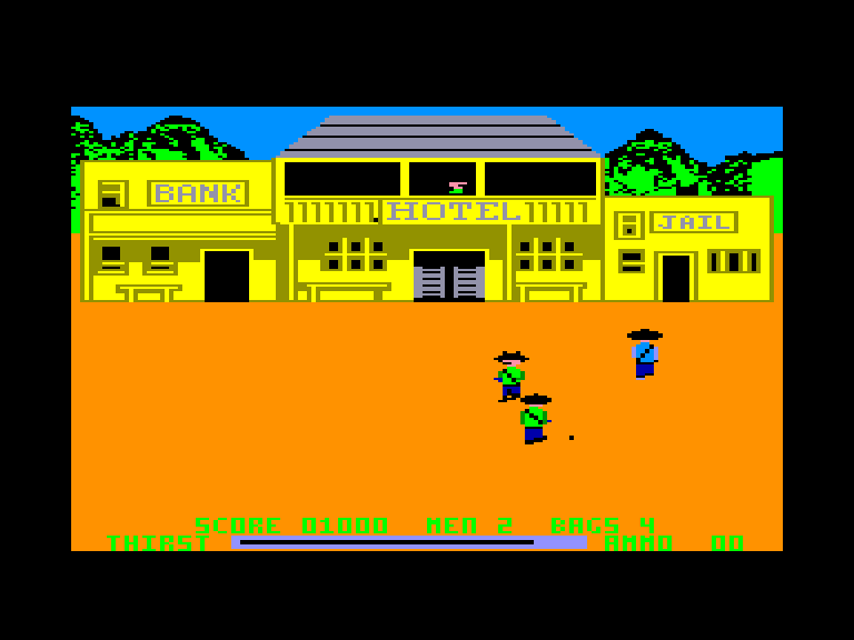 screenshot of the Amstrad CPC game Dead or alive by GameBase CPC