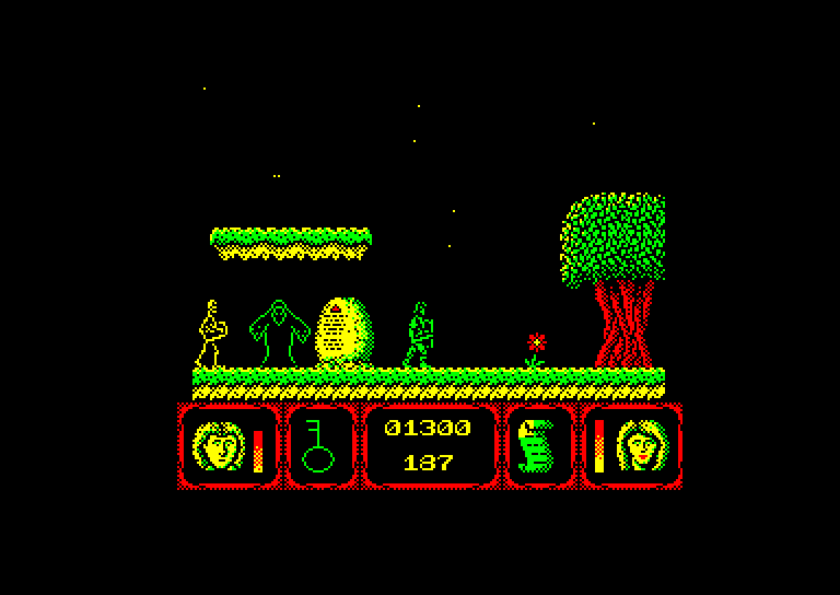 screenshot of the Amstrad CPC game Deadly evil by GameBase CPC