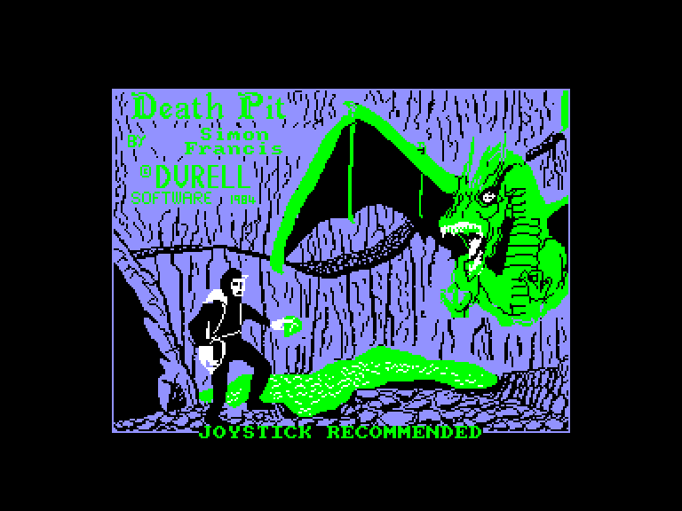 screenshot of the Amstrad CPC game Death pit by GameBase CPC