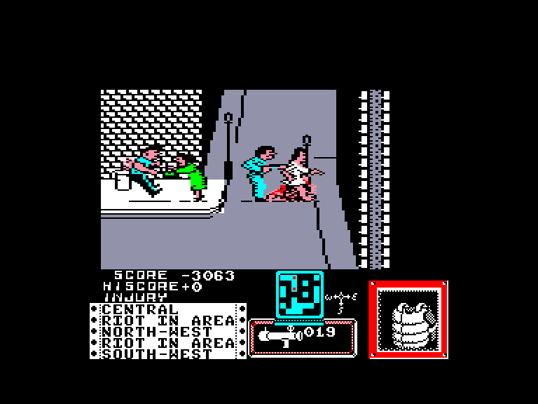 screenshot of the Amstrad CPC game Death wish 3 by GameBase CPC
