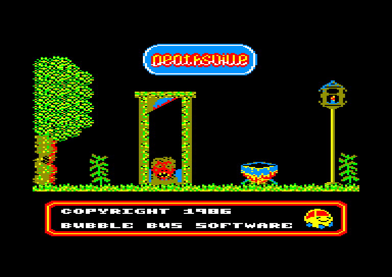 screenshot of the Amstrad CPC game Deathsville by GameBase CPC