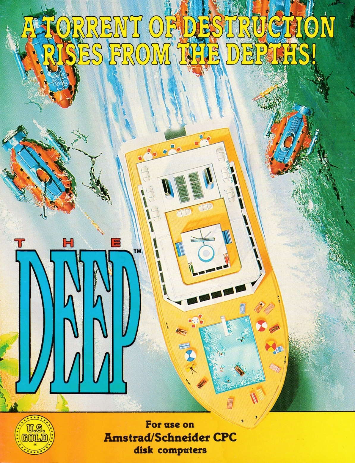 screenshot of the Amstrad CPC game Deep (the) by GameBase CPC