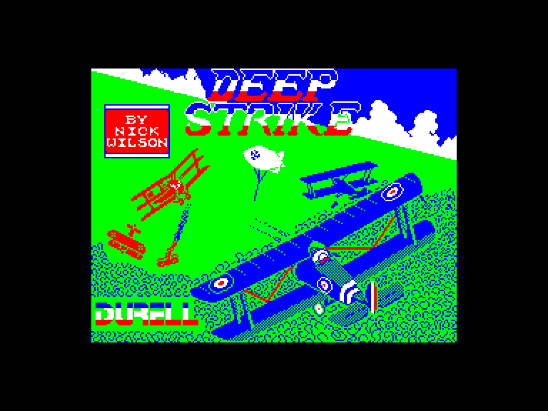 screenshot of the Amstrad CPC game Deep strike by GameBase CPC