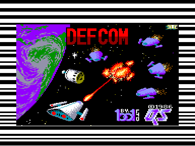 screenshot of the Amstrad CPC game Defcom by GameBase CPC