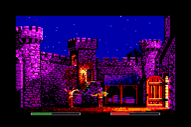 screenshot of the Amstrad CPC game Defender of the Crown by GameBase CPC