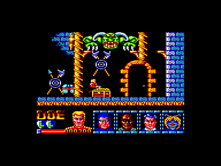 screenshot of the Amstrad CPC game Defenders of the Earth by GameBase CPC
