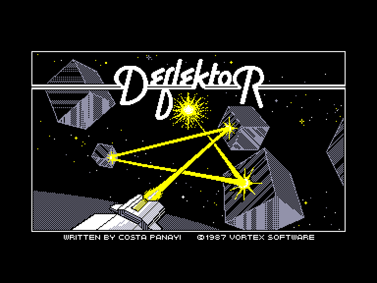 screenshot of the Amstrad CPC game Deflektor by GameBase CPC