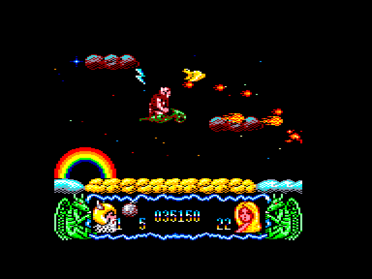 screenshot of the Amstrad CPC game Deliverance - stormlord II by GameBase CPC