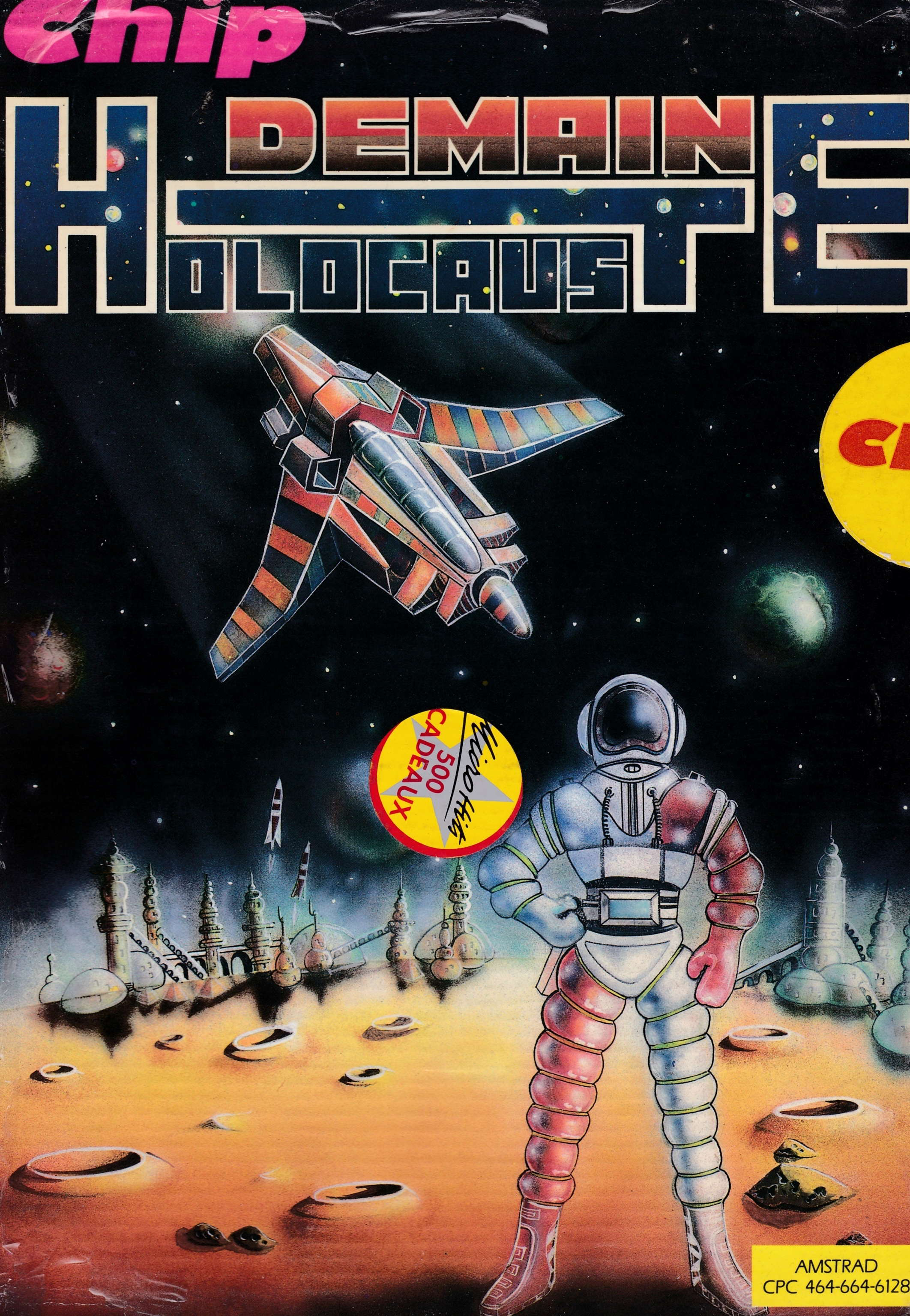 screenshot of the Amstrad CPC game Demain holocauste by GameBase CPC