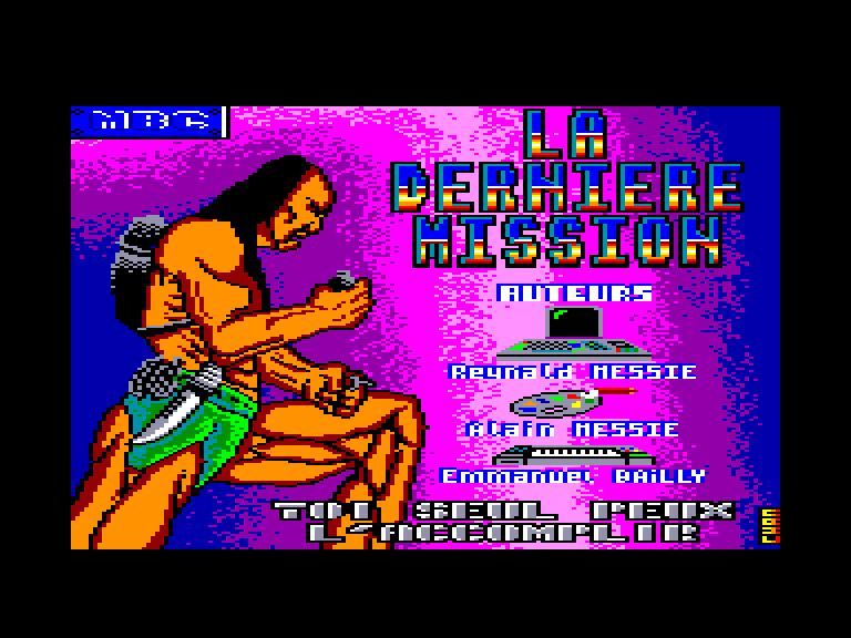 screenshot of the Amstrad CPC game Derniere mission (la) by GameBase CPC