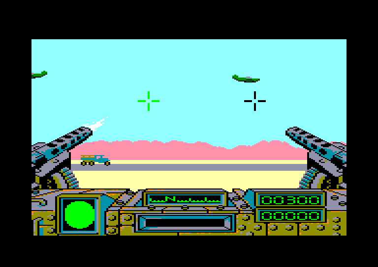 screenshot of the Amstrad CPC game Desert fox by GameBase CPC