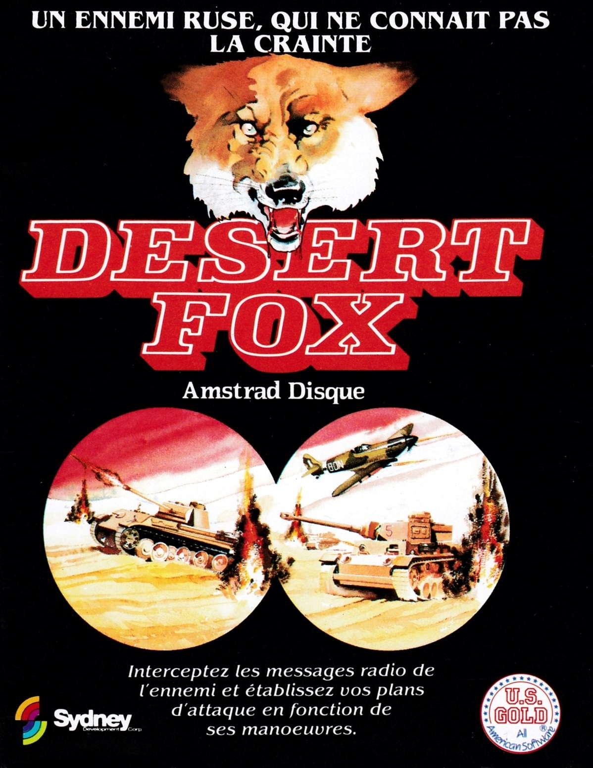 cover of the Amstrad CPC game Desert Fox  by GameBase CPC