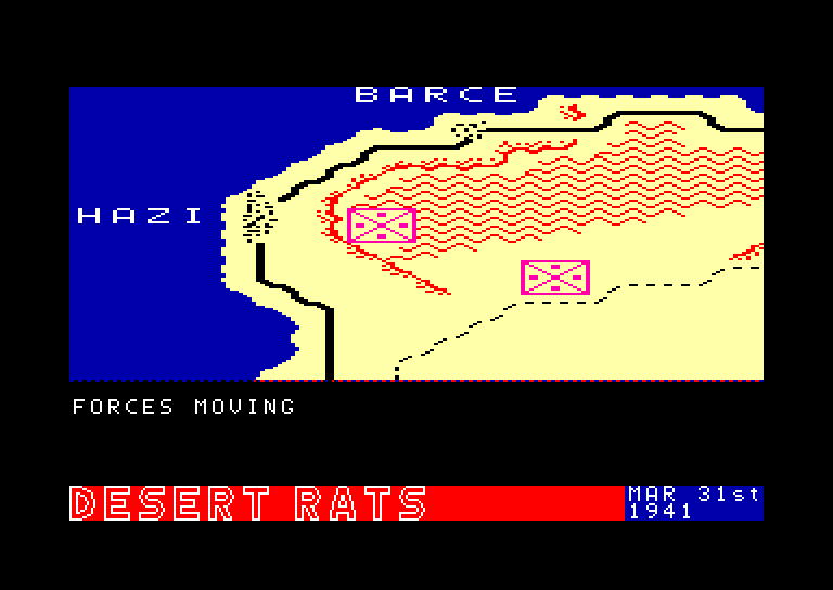 screenshot of the Amstrad CPC game Desert rats by GameBase CPC
