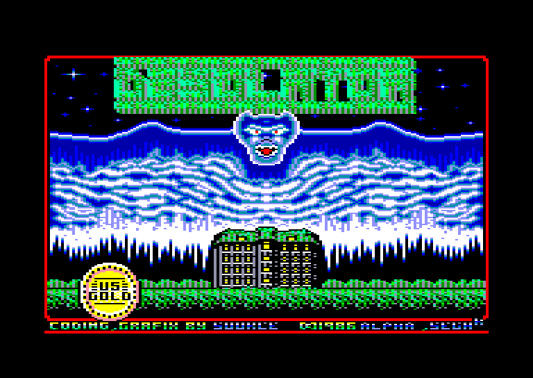screenshot of the Amstrad CPC game Desolator - Halls of Kairos by GameBase CPC