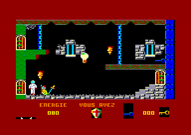 screenshot of the Amstrad CPC game Devil's castle by GameBase CPC