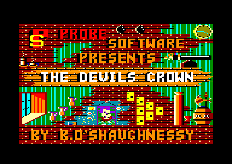 screenshot of the Amstrad CPC game Devil's crown (the) by GameBase CPC