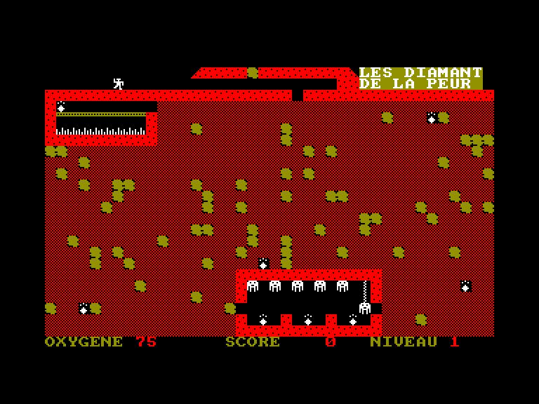 screenshot of the Amstrad CPC game Diamants de la peur (les) by GameBase CPC