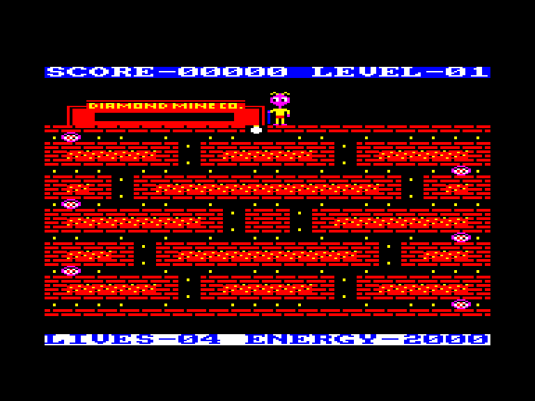 screenshot of the Amstrad CPC game Diamond Mine II by GameBase CPC