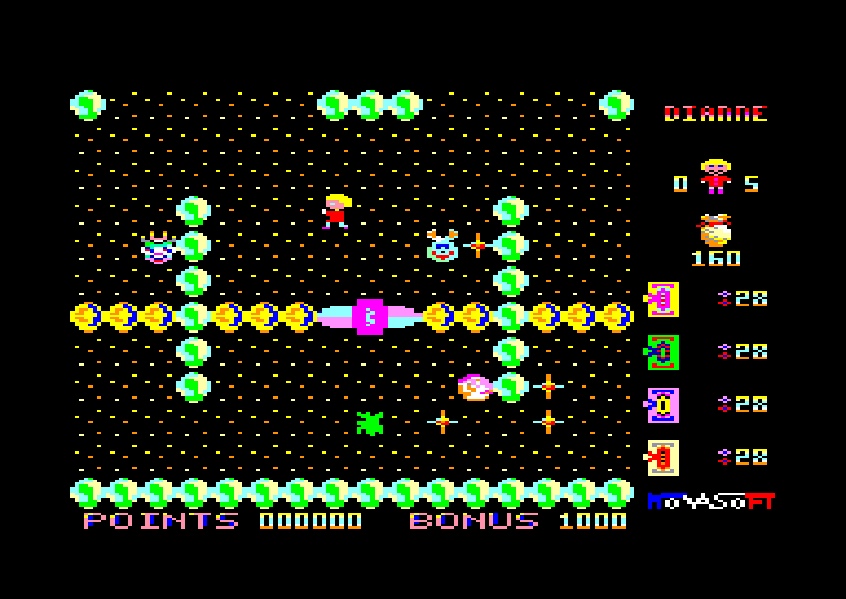 screenshot of the Amstrad CPC game Dianne / mission rubidiums by GameBase CPC