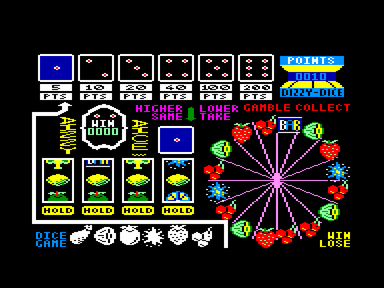 screenshot of the Amstrad CPC game Dizzy dice by GameBase CPC