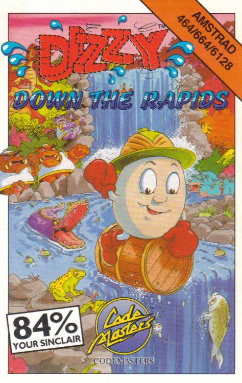 screenshot of the Amstrad CPC game Dizzy Down The Rapids by GameBase CPC