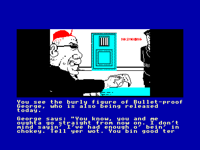 screenshot of the Amstrad CPC game Dodgy geezers by GameBase CPC