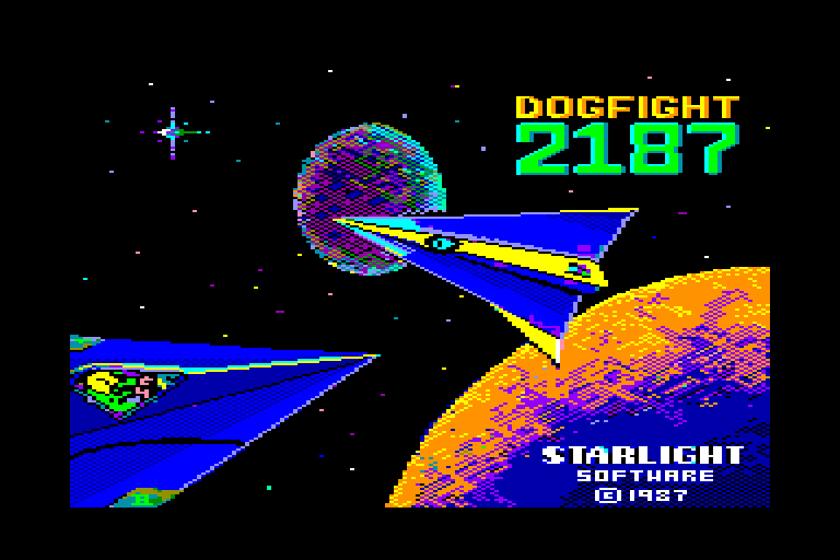 screenshot of the Amstrad CPC game Dogfight 2187 by GameBase CPC