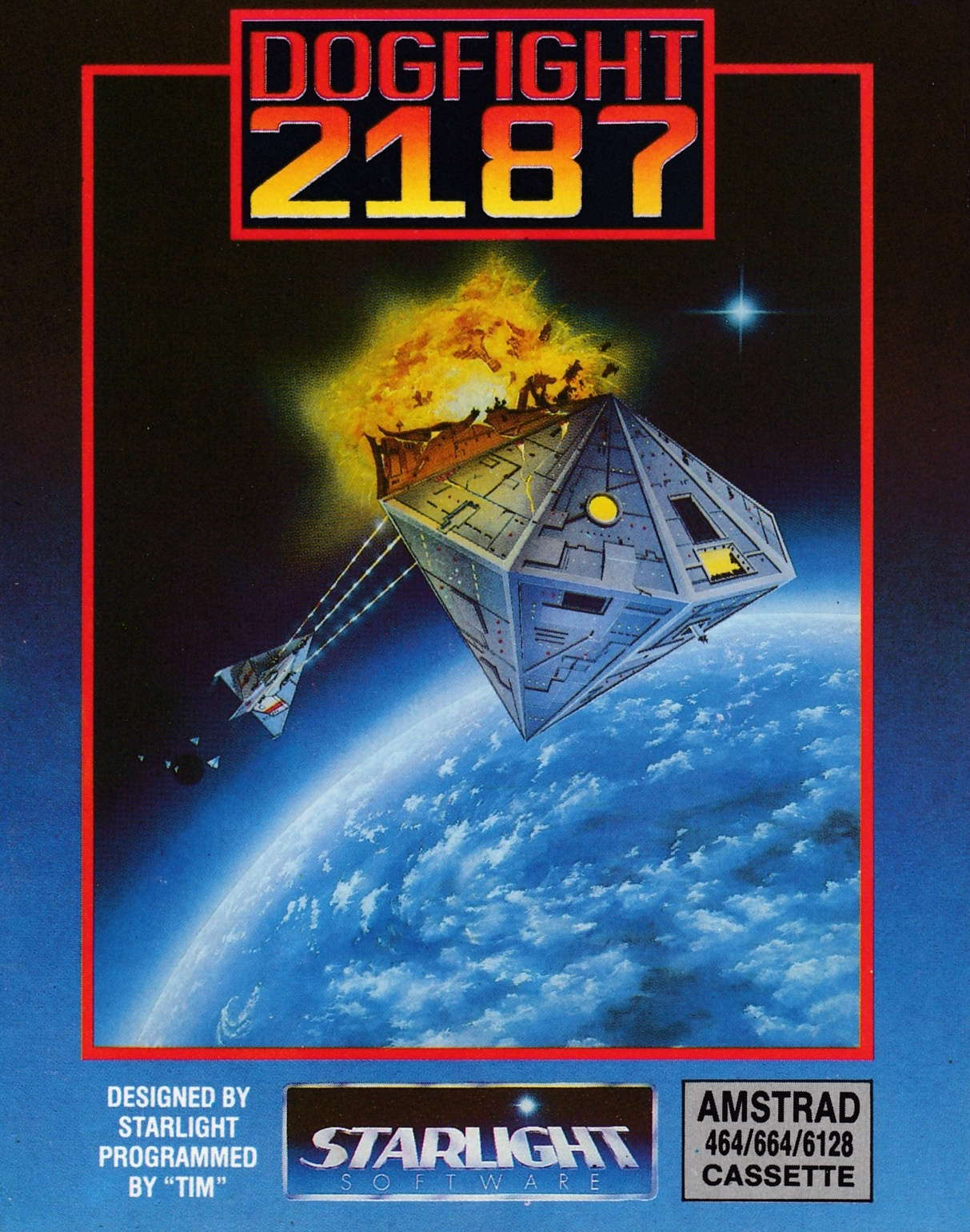 cover of the Amstrad CPC game Dogfight 2187  by GameBase CPC