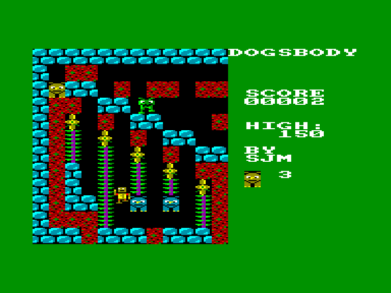 screenshot of the Amstrad CPC game Dogsbody by GameBase CPC