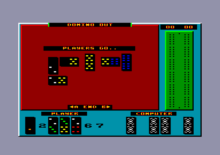 screenshot of the Amstrad CPC game Dominoes by GameBase CPC
