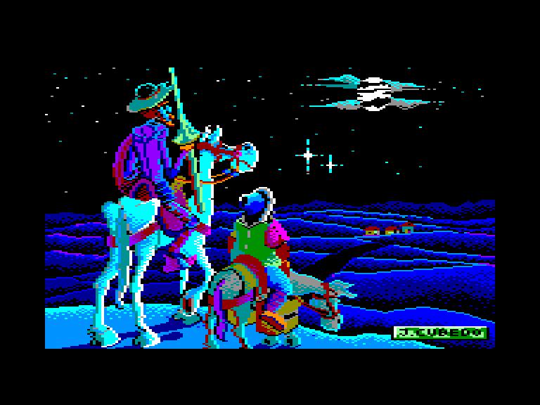 screenshot of the Amstrad CPC game Don Quijote de la Mancha by GameBase CPC