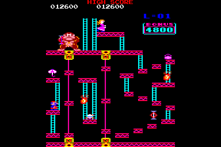 screenshot of the Amstrad CPC game Donkey Kong by GameBase CPC