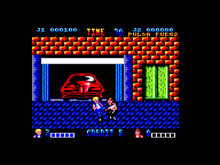 screenshot of the Amstrad CPC game Double Dragon (Mastertronic) by GameBase CPC