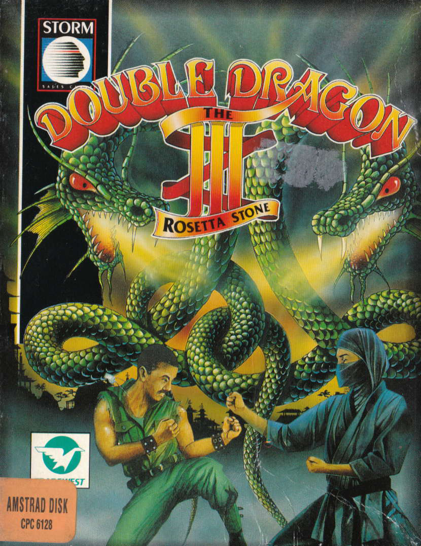 cover of the Amstrad CPC game Double Dragon III - The Rosetta Stone  by GameBase CPC