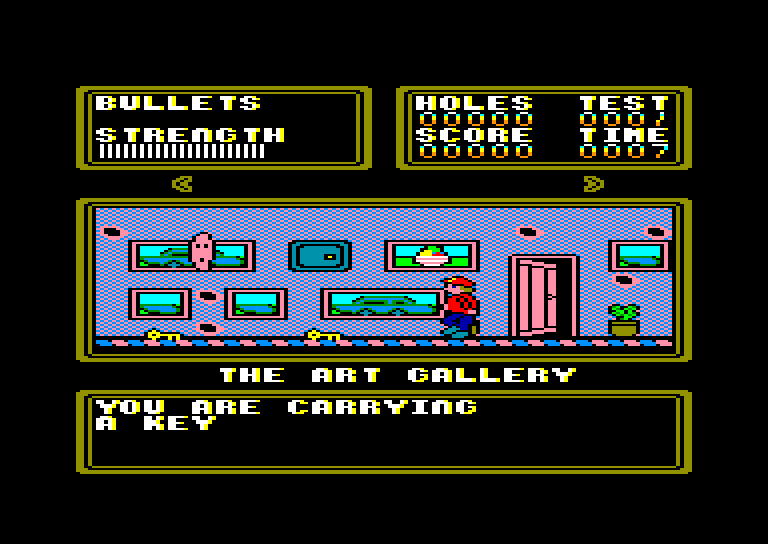 screenshot of the Amstrad CPC game Dr Scrime's Spook School by GameBase CPC