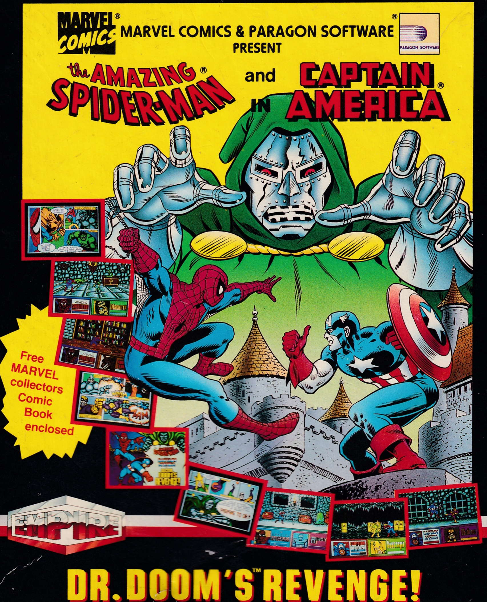 screenshot of the Amstrad CPC game Dr. Doom's Revenge by GameBase CPC