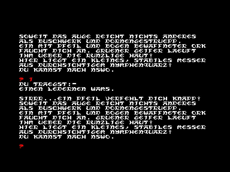 screenshot of the Amstrad CPC game Drachenland by GameBase CPC