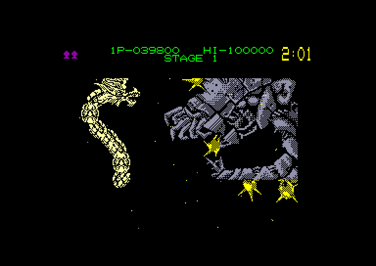 screenshot of the Amstrad CPC game Dragon Breed by GameBase CPC
