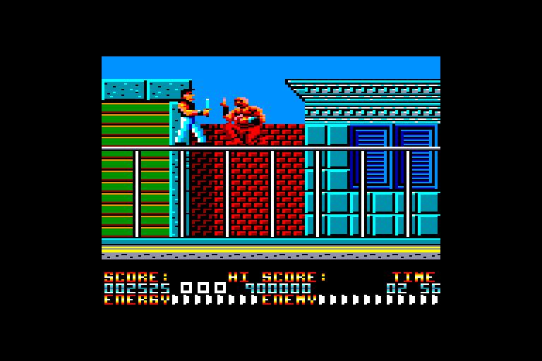 screenshot of the Amstrad CPC game Dragon ninja (bad dudes vs) by GameBase CPC