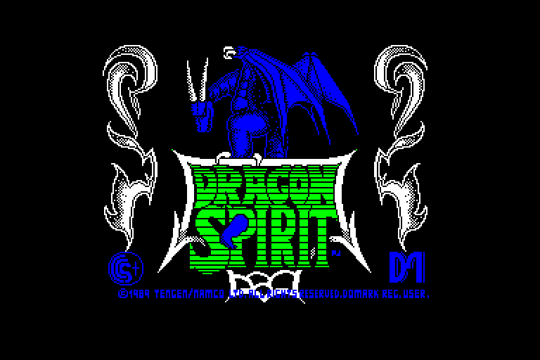 screenshot of the Amstrad CPC game Dragon spirit by GameBase CPC