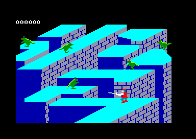 screenshot of the Amstrad CPC game Dragon's Lair by GameBase CPC