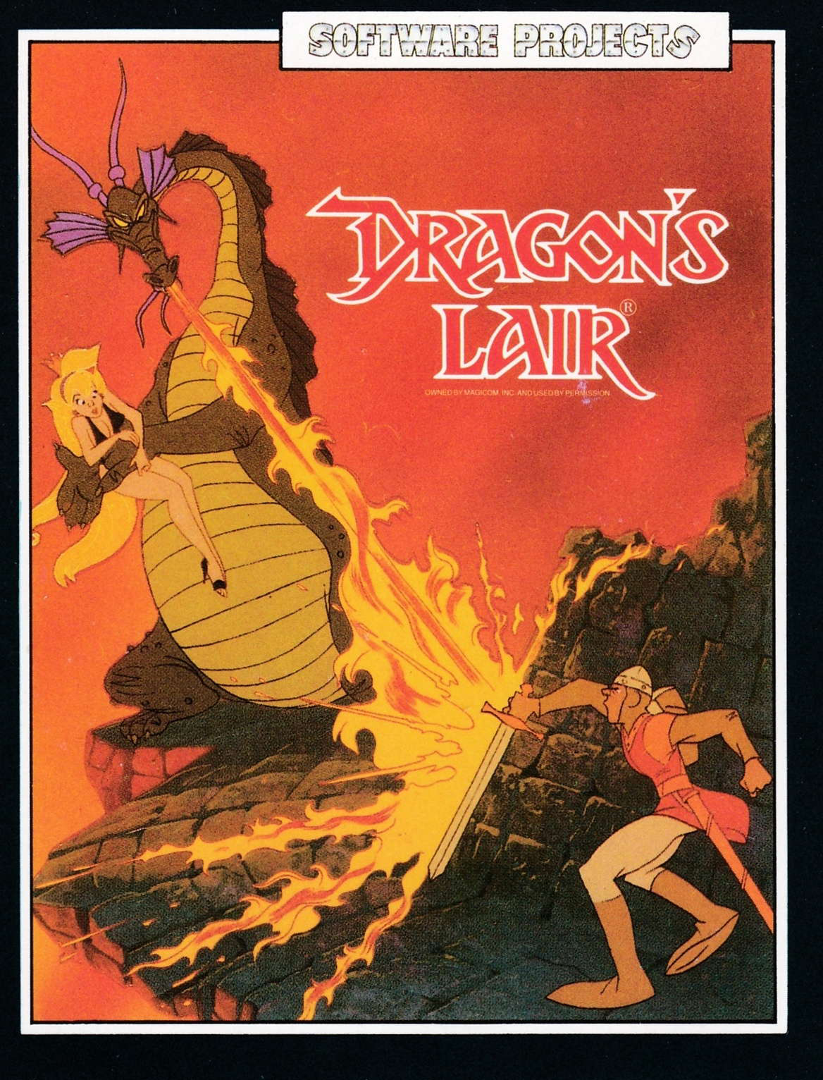 cover of the Amstrad CPC game Dragon's Lair  by GameBase CPC
