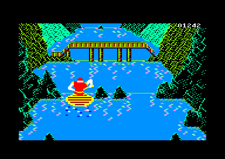 screenshot of the Amstrad CPC game Dragon's Lair II - Escape from Singe's Castle by GameBase CPC