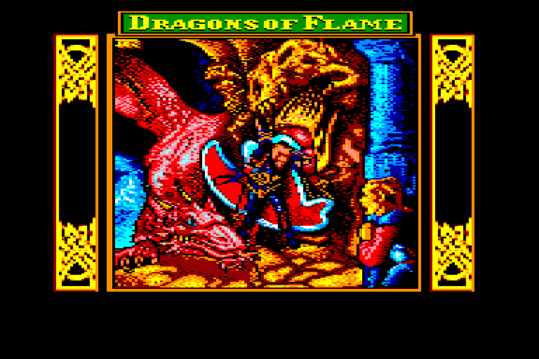 screenshot of the Amstrad CPC game Dragons of flame by GameBase CPC