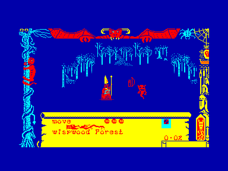screenshot of the Amstrad CPC game Dragontorc of avalon by GameBase CPC